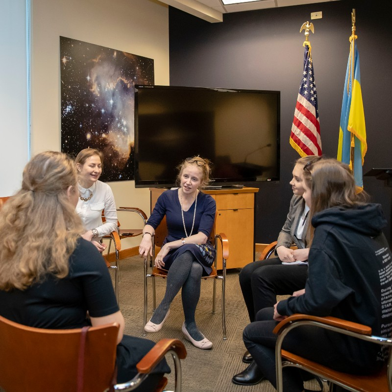The STEM is FEM Girls Attended the U.S. Embassy in Ukraine